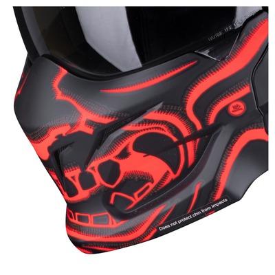 Masque Scorpion Exo-Combat Evo Samurai noir/rouge mat