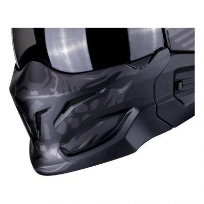 Masque Scorpion Exo-Combat Stealth argent foncé