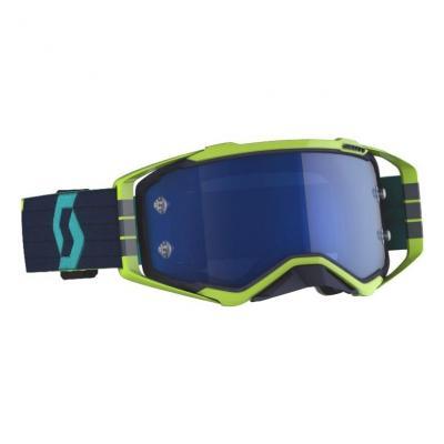 Masque Scott Prospect bleu/jaune – écran Works chrome bleu électrique