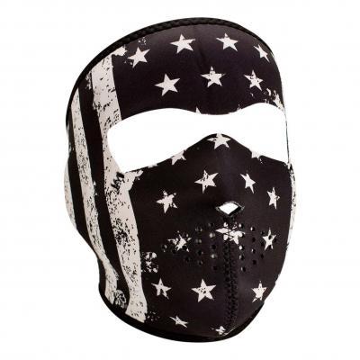 Masque Zan Headgear Drapeau vintage noir/blanc