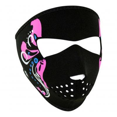Masque Zan Headgear Mardi gras noir/rose
