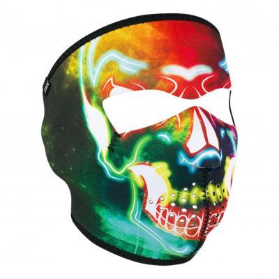 Masque Zan Headgear Tête de mort Néon multicolore