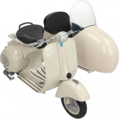 Miniature Vespa Sidecar 1:6 blanc