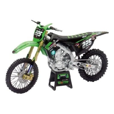 Moto miniature New Ray Kawasaki 250 KXF Bud Racing Team 19 Réplica #225 1/12°