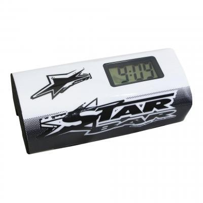 Mousse de guidon Star Bar Booster Pads blanc avec chronomètre