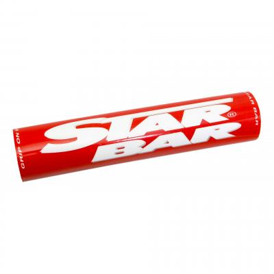 Mousse de guidon Star Bar cross rouge
