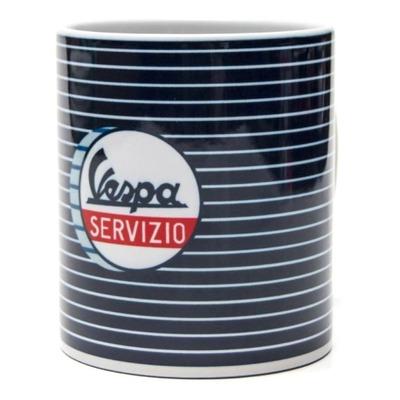 Mug céramique Vespa Servizio blanc/bleu