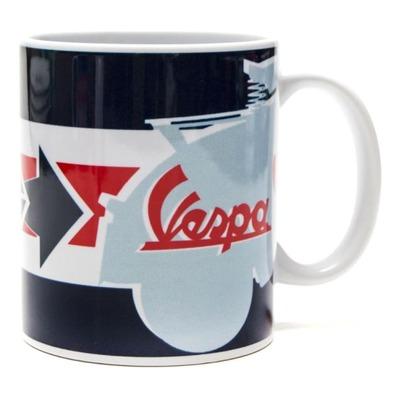 Mug céramique Vespa Servizio bleu/rouge