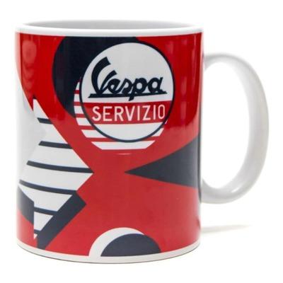 Mug céramique Vespa Servizio rouge/blanc