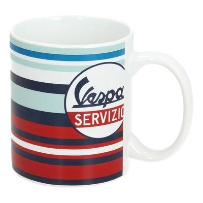 Mug céramique Vespa Servizio rouge/bleu