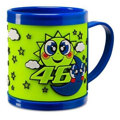 Mug VR46 tasse plastique bébé Sun & Moon bleu/jaune