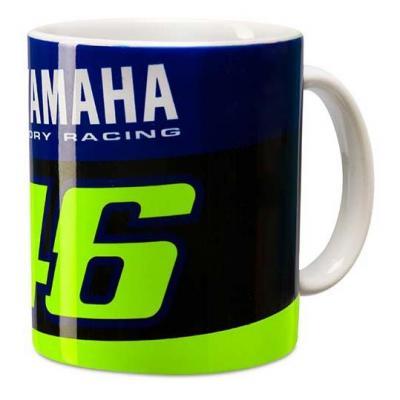 Mug VR46 tasse Racing Yamaha bleu/noir/jaune