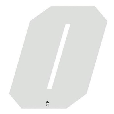 Numéro 0 YCF hauteur 11 cm blanc (3 pièces)