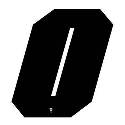 Numéro 0 YCF hauteur 11 cm noir (3 pièces)