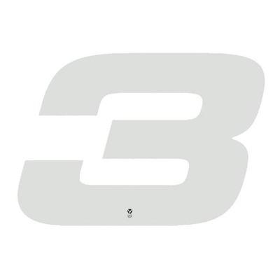 Numéro 3 YCF hauteur 18 cm blanc (3 pièces)