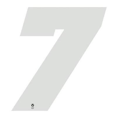 Numéro 7 YCF hauteur 11 cm blanc (3 pièces)