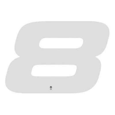 Numéro 8 YCF hauteur 18 cm blanc (3 pièces)