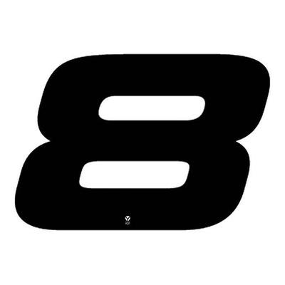 Numéro 8 YCF hauteur 18 cm noir (3 pièces)