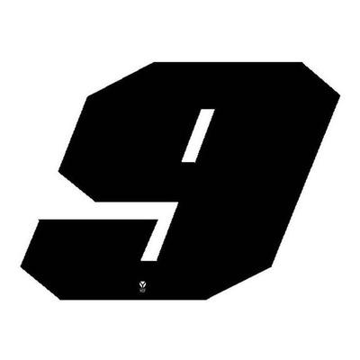 Numéro 9 YCF hauteur 11 cm noir (3 pièces)