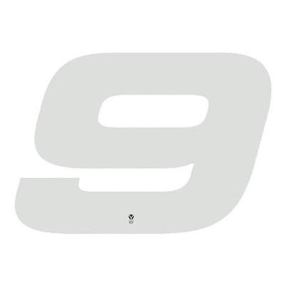 Numéro 9 YCF hauteur 18 cm blanc (3 pièces)