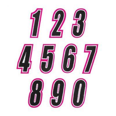 Numéro de course American Kargo rose/noir