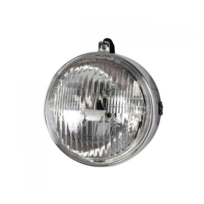 Optique de phare rond chrome et noir Ø130mm avec interrupteur Mbk 51