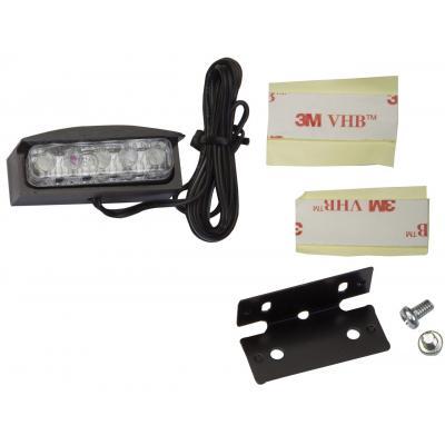 Optique porte plaque avec LEDs corps en aluminium
