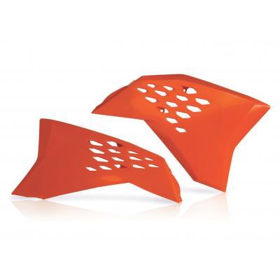 Ouïes de radiateur Acerbis KTM 125 SX 07-10 orange (paire)