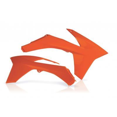 Ouïes de radiateur Acerbis KTM 125 SX 11-12 orange (paire)
