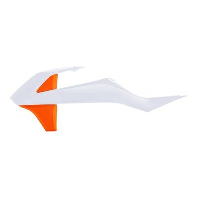 Ouïes de radiateur Acerbis KTM 85 SX 18-21 orange/blanc2