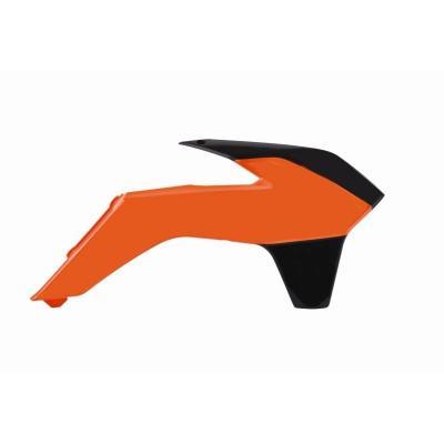 Ouïes de radiateur Polisport KTM 85SX 13-14 (orange/noir origine 13-14)