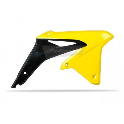 Ouïes de radiateur Polisport Suzuki 450 RM-Z 08-17 (noir/jaune origine 06-15)