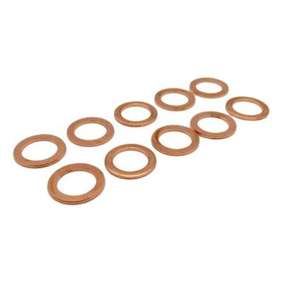 Pack de 10 joints de bouchon de vidange cuivre Ø10xØ16x1,50 mm