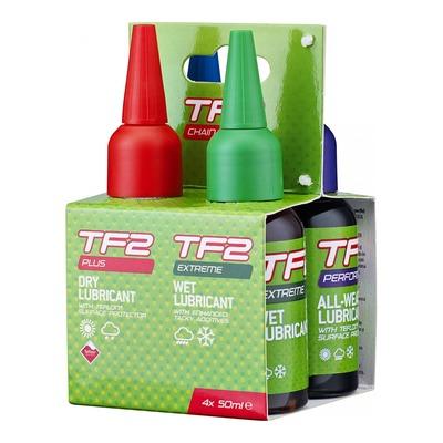 Pack de lubrifiants Weldtite TF2 toutes conditions (4x 50ml)