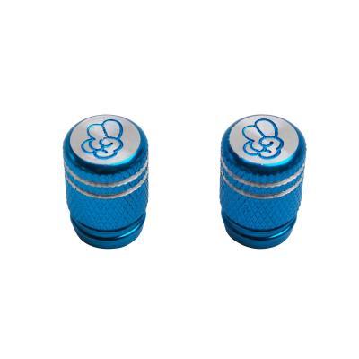 Paire de bouchons de valve Vicma to cool molette bleu