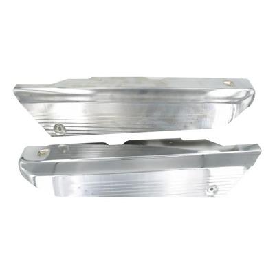 Paire de cache carter acier chromé Peugeot 103 HP / TSM / TSMR