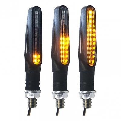 Paire de clignotants Brazoline LED Furtif séquentiels noir