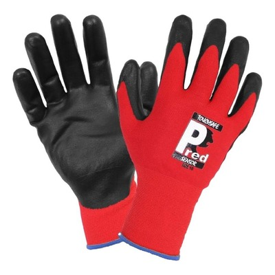 Paire de gants d'atelier Brazoline T8 rouge spécial écran tactile