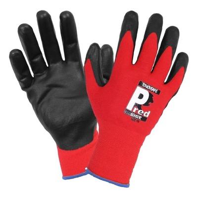 Paire de gants d'atelier Brazoline T9 rouge spécial écran tactile