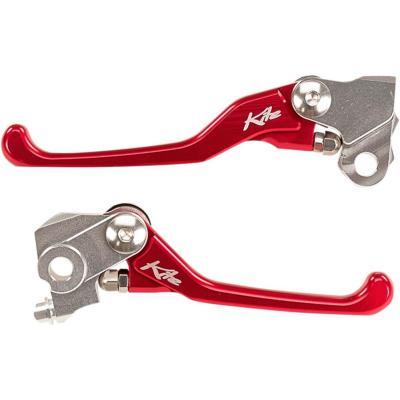 Paire de leviers Kite Honda CRF 250R 07-18 rouge