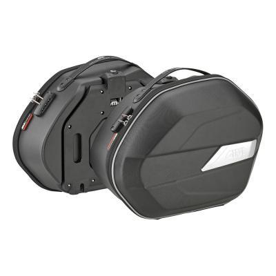 Paire de valise latérales semi-rigide Givi WL900 Weightless noir