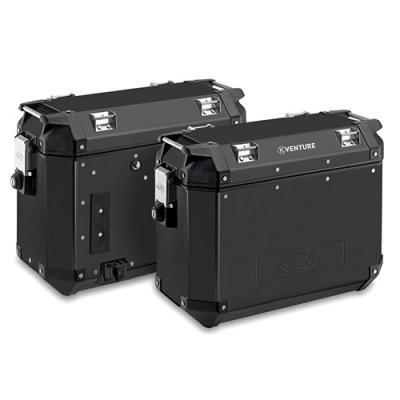 Paire de valises latérales Kappa K-Venture 37+37 Litres aluminium noir