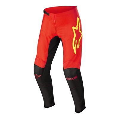 Pantalon cross Alpinestars Fluid Tripple noir/rouge fluo/jaune fluo