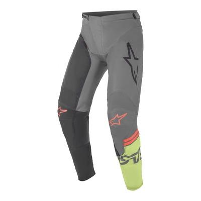 Pantalon cross Alpinestars Racer Compass noir/gris foncé/vert fluo
