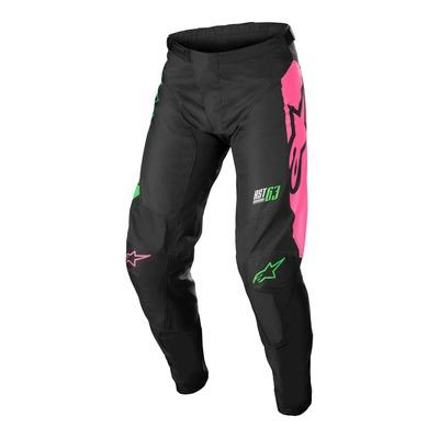 Pantalon cross Alpinestars Racer Compass noir/vert neon/rose fluo