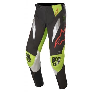 Pantalon cross Alpinestars Techstar ET Monster noir/vert/rouge