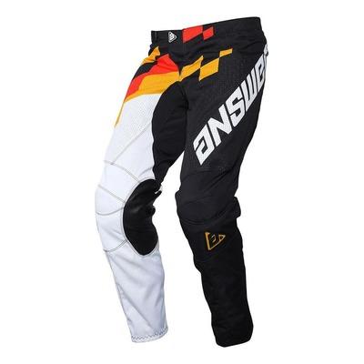 Pantalon cross Answer Arkon Korza noir/blanc/rouge/orange