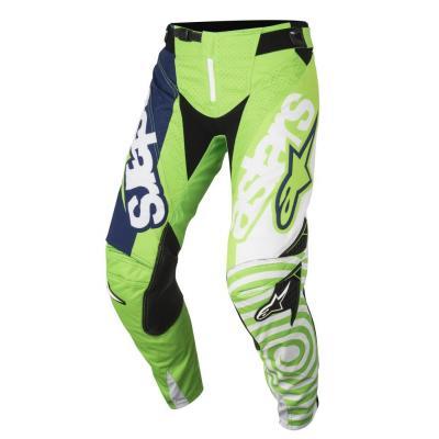 Pantalon cross enfant Alpinestars Racer Venom vert fluo/blanc/bleu