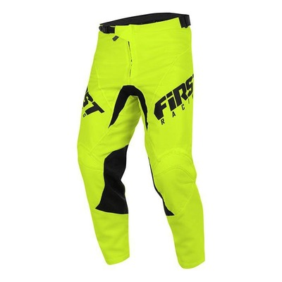 Pantalon cross enfant First Racing Skim jaune fluo