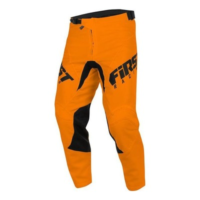Pantalon cross enfant First Racing Skim orange